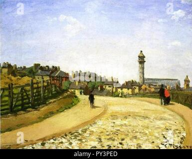 Camille Pissarro - Le Crystal Palace Upper Norwood. - Stock Image