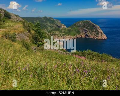 Signal Hill walking trail in St. John's Newfoundland Canada during summer - Stock Image