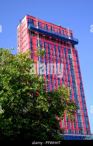 new student accommodation block crown place in the city centre nearing completion portsmouth england uk - Stock Image