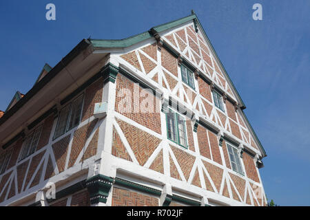 traditional half-timbered house in york in the old country - Stock Image