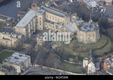 An aerial view of Durham Castle - Stock Image