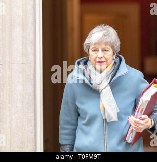 London, UK. 20th March, 2019. arrives at a Cabinet meeting at 10 Downing Street, London Credit: Ian Davidson/Alamy Live News - Stock Image
