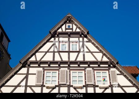 traditional old german houses. - Stock Image