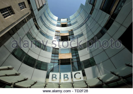 File photo dated 12/05/16 of the BBC Broadcasting House in Portland Place, London. Senior Conservatives have condemned the BBC's decision not to continue with free TV licences for all over-75s, with Andrea Leadsom calling for a reversal of the plan. - Stock Image