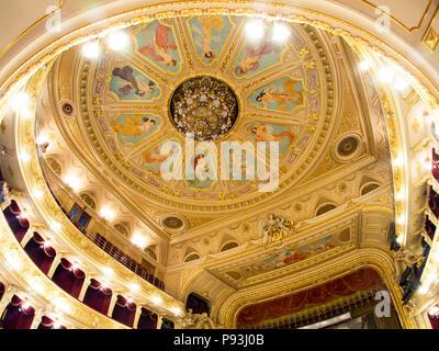 Lviv Opera house ceiling - Stock Image