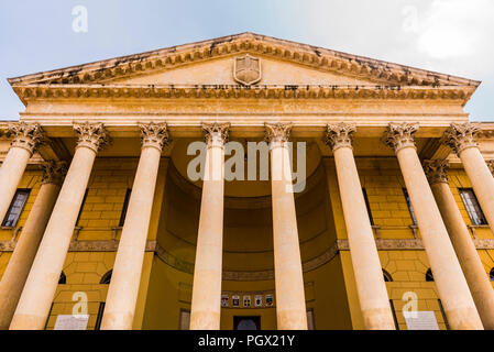 Front of the Palazzo Barbieri in Verona, Italy - Stock Image