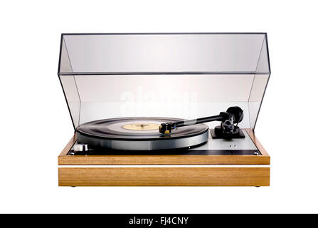 A cut out shot of a record player - Stock Image