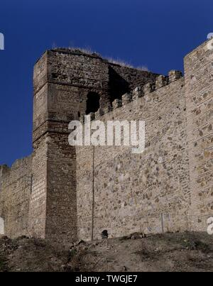 MURALLAS. Location: CASTILLO / RECINTO AMURALLADO. BUITRAGO DEL LOZOYA. MADRID. SPAIN. - Stock Image