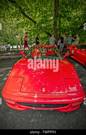 Turin, Piedmont, Italy. 22nd June 2019.Italy Piedmont Turin Valentino park Auto Show 2019 - Ferrari Credit: Realy Easy Star/Alamy Live News - Stock Image