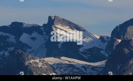 Wendenstoecke, mountain range seen from Mount Stanserhorn, Switzerland. - Stock Image