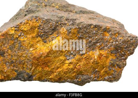 Copper ore (chalcopyrite) - Stock Image