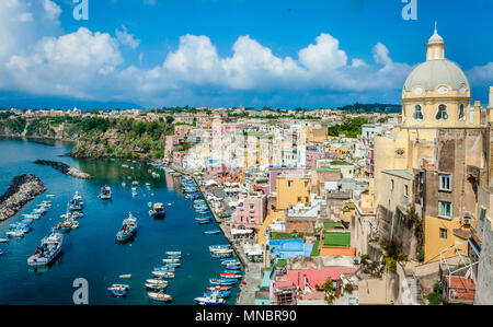 The Island of Procida, Naples, Italy - Stock Image