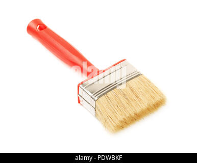 Clean new paintbrush isolated over white background - Stock Image