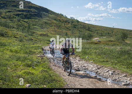 Offroad Finnmark, OF150, 2018, Cycling race, Alta, Norway - Stock Image