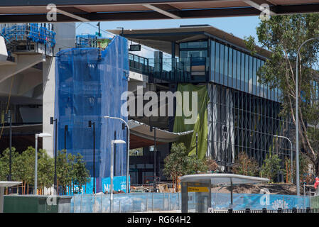 Jan 2019 Sydney Australia: As part of the new Metro Northwest train line between Rouse Hill and Chatswood, Kellyville Station nears completion. - Stock Image
