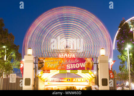 The Royal Adelaide Show is a popular annual event within South Australia, Australia with a selection of carnival rides and entertainment. - Stock Image