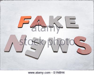 fake News' - Stock Image