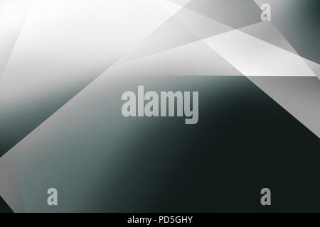 A texture or background of triangle shapes blended from grey, blues and blacks - Stock Image