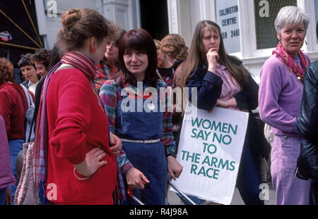 Women attending Anti-nuclear Demonstration in London in the 1980's - Stock Image