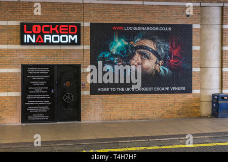 'Locked in a room' Escape Rooms game venue in Southampton city centre, England, UK - Stock Image