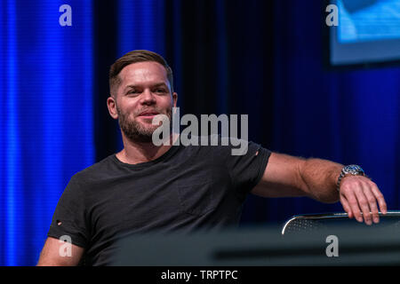 Bonn, Germany - June 8 2019: Wes Chatham (*1978, actor - The Expanse) at FedCon 28, a four day sci-fi convention. FedCon 28 took place Jun 7-10 2019. - Stock Image