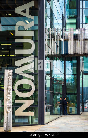 Normura UK Headquarters at One Angel Lane Central London. Opened 2011 Architect Fletcher Priest Architects - Stock Image