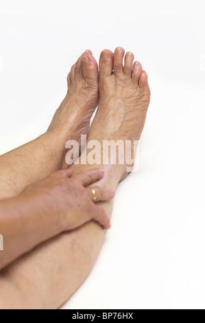 Mature feet - Stock Image