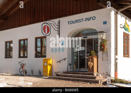 Tourist Information office in Oberammergau, Germany - Stock Image