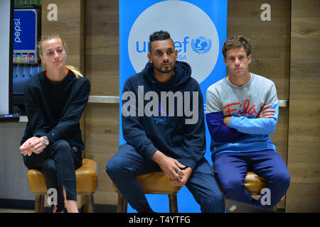 Attendees during the UNICEF Kid Power during Miami Open 2019 at Hard Rock Stadium in Miami Gardens, Florida  Featuring: Petra Kvitova, Nick Kyrgios, Diego Schwartzman Where: Miami Gardens, Florida, United States When: 19 Mar 2019 Credit: Johnny Louis/WENN.com - Stock Image