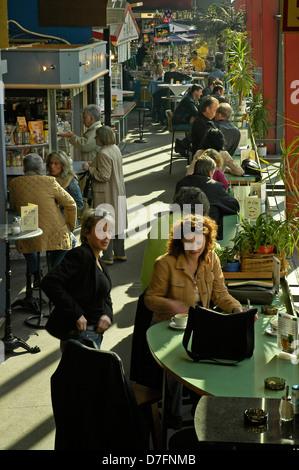 Germany, Lower Saxony, Hannover, covered market, Karmarschstrasse, Markthalle - Stock Image