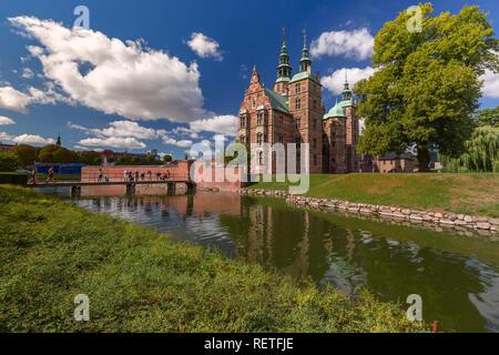 Rosenborg Castle in Copenhagen, Denmark - Stock Image