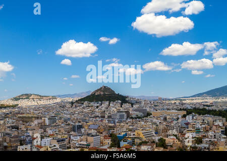 Panorama of Athens, Greece, from the Acropolis - Stock Image