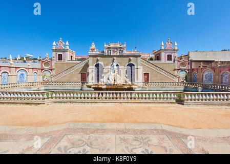 Water fountain at the entrance to Estoi Palace, in the Algarve, Portugal. - Stock Image