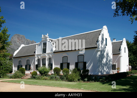 south africa Boschendahl winery founded by hugenots  - Stock Image