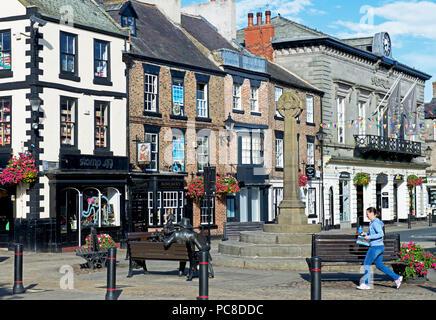 The Market Place, Knaresborough, North Yorkshire, England UK - Stock Image