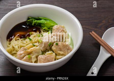 Food wonton noodles - Stock Image