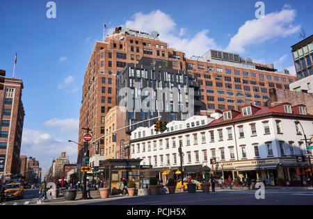 Intersection of 14th Street, 9th Avenue and Hudson Street in the Meatpacking District in NYC - Stock Image