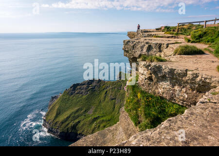 Sea view on Cliffs of Moher in Ireland - Stock Image