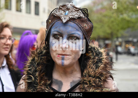 Senna from Hellblade, London Games Festival, Guildhall Yard, City of London. UK - Stock Image