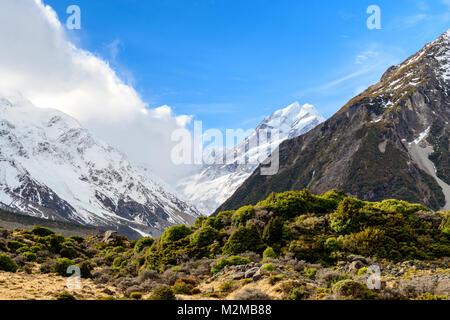 Aoraki Mount Cook – Hooker Valley - Stock Image