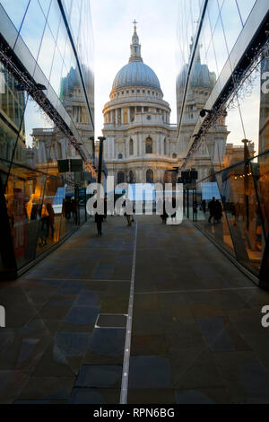 St.Paul's cathedral seen from one new change shopping mall , London, United Kingdom. - Stock Image