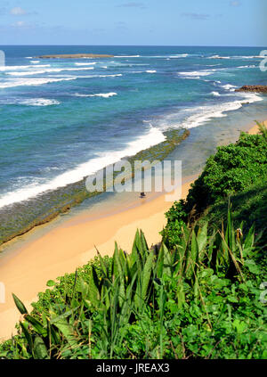 Blue sea and sky along the coastline of Northern San Juan, Puerto Rico. Old SanJuan, Puerto Rico. - Stock Image