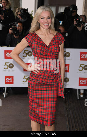 London, UK. 12th Mar, 2019. LONDON, UK. March 12, 2019: Nell McAndrew arriving for the TRIC Awards 2019 at the Grosvenor House Hotel, London. Picture: Steve Vas/Featureflash Credit: Paul Smith/Alamy Live News - Stock Image