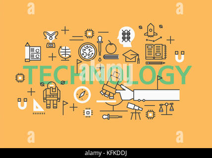 Infographic illustration related to TECHNOLOGY - Stock Image