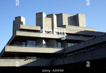 National Theatre South Bank London - Stock Image