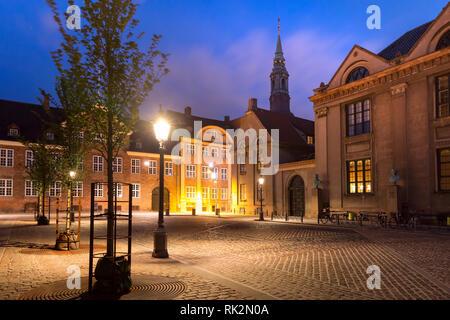 Frue Plads square in Copenhagen, Denmark - Stock Image