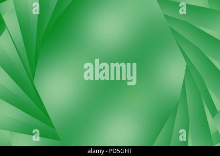 A green blue colored abstract or textured background with stripes appearing to open to copy space - Stock Image