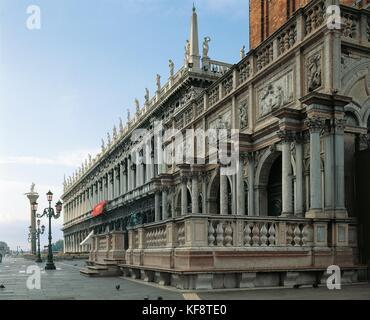 VENICE AND VENETO Marciana Library 1375 The object of the Campanile di San Marco ARCHITECT SANSOVINO - Stock Image