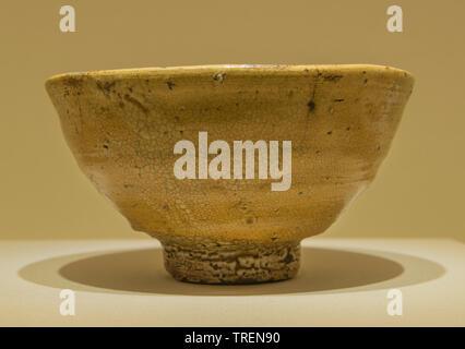 "Tea Bowl Oido type, known as ""Sano-ido"". Pottery. Korea, 16th century CE. Tokyo National Museum - Stock Image"