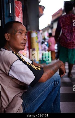 Balinese man, Denpasar - Stock Image